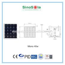 price per watt solar panels of 40w solar panel