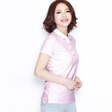 High Quality Custom Design Polo women Clothes Wholesale Cheap Women Polo wholesale clothing xxl six film blue t-shirt (S141014)