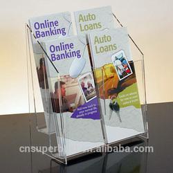 2 tier acrylic brochure holder