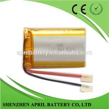 Li ai polimeri di lipo batteria al litio ricaricabile 103.450 1800mah 3.7v