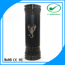 Sex toy 26650 510 thread scorpion mod:black scorpion from V-smokemall