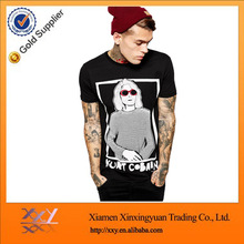 92% polyester 8% spandex mens t shirt with printing