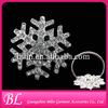 Christmas decorative snowflake napkin ring holder