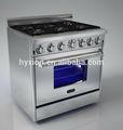Csa aprobado 6 gama quemador de cocina de gas con horno de un hotel comercial& equipo de cocina