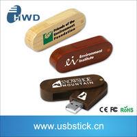 Wood swivel USB memory stick customized USB flash drive 1GB/2GB/8GB/16GB engraving custom LOGO wedding gift usb memory stick
