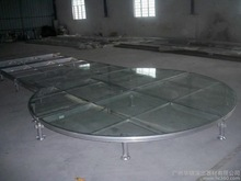 swimming pool catwalk arylic glass round stage
