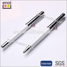 snow white fashion acrylic printable metal pen