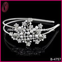 Wedding dress accessories china supplier Bride crystals pearl cute hairband headband