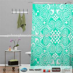 Diamond pattern fabric shower curtain/bathtub curtain