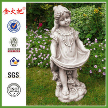 Girl Holding Dress Garden Statues /Ornaments