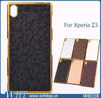 Glittering Ball Wave Pattern Chrome Back Case for Sony Xperia Z3 L55T L55U D6653 # W6016