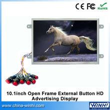 10 zoll industrie Spezialität digitale optische aus 3,5 mm kopfhörer knopf-bedienung kleiner voller xxx Video display bluetooth