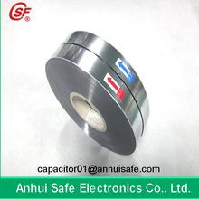 2.8-12um Plastic BOPP Antioxidant Metallized Film for Capacitor Use