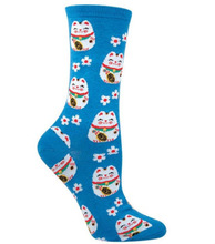Add a little luck to you life with these sweet Lucky Cat socks