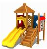 Wooden children playground equipment for kindergarten