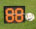 equipamentos árbitro de futebol placas de substituição