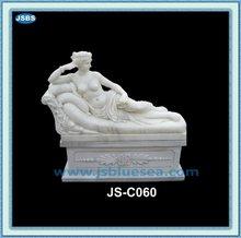 Decorative Indoor Stone Beautiful Lying Nude Woman Statue