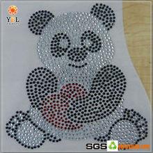 Hot Sale Panda Pattern University Rhinestone Transfer Motifs