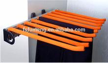 wardrobe side mount sliding trousers rack 9 hooks