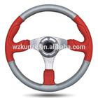 leather pvc 350mm carbon fiber design your racing car go kart sport spinner knob for steering wheel