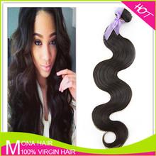 Guangzhou Mona body wave virgin Brazilian hair extension