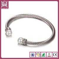 pearl bracelets cheap expandable memory wire bracelet
