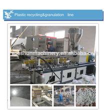 Reciclado de plástico del animal doméstico recortes de reciclaje de máquina de granulación