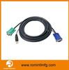 Hot sellinig USB 2.0 + VGA KVM Cable,vga cable 15 pin