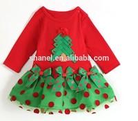 factory direct cotton dress one piece little girl dress christmass dress for girls online