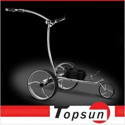 Stainless steel electric golf walker muscle golf trolley quite tubular motors