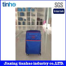 High quality fabric 5pcs set suitcase