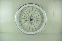 Carbon white color Aluminium wheels clincher road bike wheelset 50mm