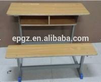 Double School Desk Bench for Lebanon Tender , Antique Double School Desk School Furniture