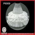 p6069 venta caliente bouffant de novia vestido de novia sirena de crinolina enagua con tres aros