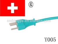 swiss 3 pin power cord plug mold