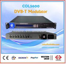 modulator rf dvb-t ,4ASI to dvbt rf modulator , tv and radio headend dvb-t catv modulator COL5600