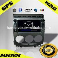 HANOSVOR Car DVD Player with GPS for MAZDA 5 Car Multimedia Radio GPS Navigation System