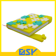 silicone puzzle cover note book school note book with silicone cover