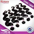 popular estilo natural podría ser teñido de cualquier color brasileño virgen remy punta de palo de extensiones de cabello