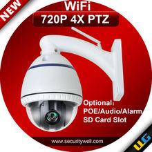 Low cost wifi auto Zoom camera, optional POE 4X 720P mini 4inch size
