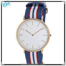 Fashion design high quality japan movt quartz women/mens nylon watch