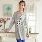 young mother trendy cotton pregnant women blouse AK079