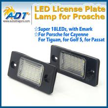 02-10 for Porsche Cayenne for VW Touareg LED Number License Plate Lamp Light
