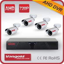 4ch cctv dvr kit 4ch cctv dvr kit with Cloud P2P CMS HDIM/VGA/BNC output 4 COMS cameras 720p with IR security CCTV DVR kit
