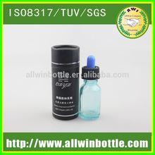 matt lamiantion luxury paper round box for package glass dropper bottle