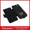 2600mah Flip solar power cell phone case for iphone 5 5s