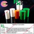 rx colorido de segurança para crianças frascos contentores de maconha medicinal frascos