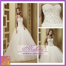 Shiny Crystal Beading for Bride Dress Wholesale Wedding Dress with Plus Size Design