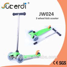 120/80mm 3 wheel plug in aluminum T bar kids kick off road kick scooter