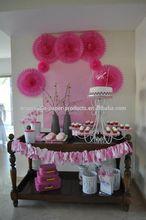 Pastel Hanging Tissue Paper Fans DIY backdrop tissue paper fans Baby Shower Party Ideas Hanging Birthday Wedding Decoration
